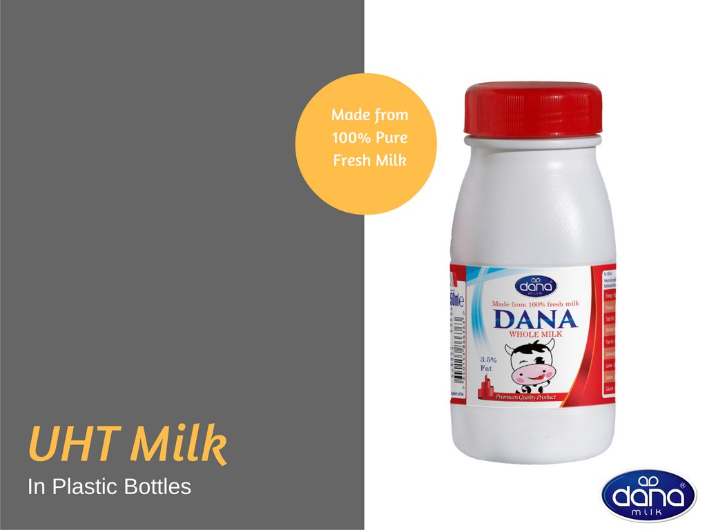 250ml Dana UHT MIlk Plastic Bottle is a Shelf Stable Milk