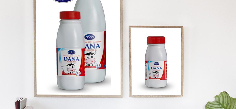 Full Cream Whole Milk Plastic Bottle UHT Milk Family Poster