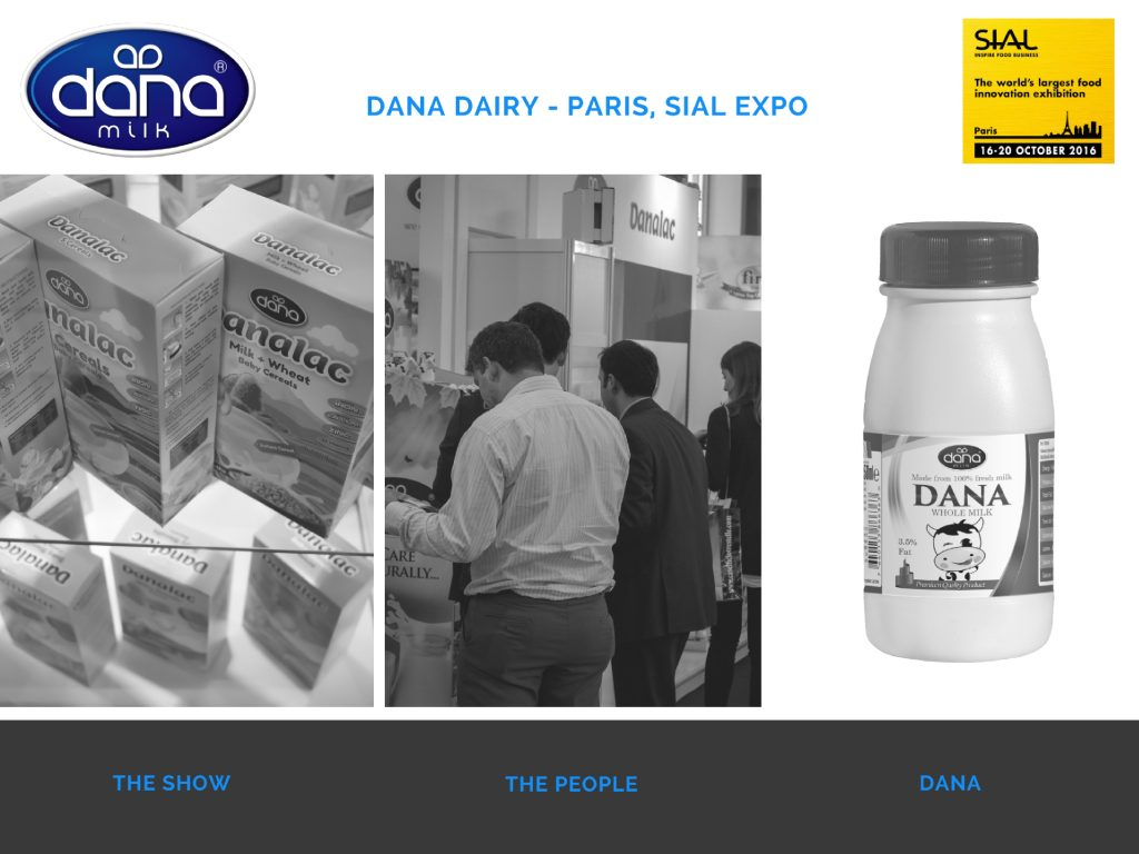 Dana Dairy stand at Paris SIAL Expo 2016