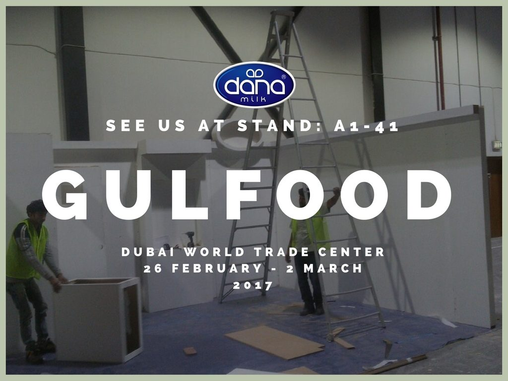 As we are preparing for the yearly Gulfood 2017 exhibition in Dubai, we received this image at the world trade center showing our hard working people preparing the stand for the show.