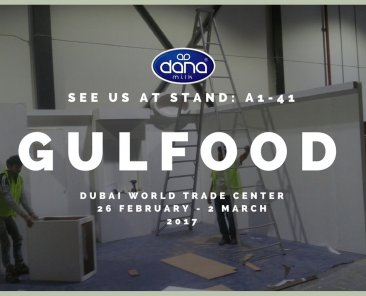 As we are preparing for the yearly Gulfood exhibition in Dubai, we received this image at the world trade center showing our hard working people preparing the stand for the show.