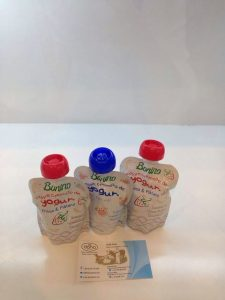 Bonino, a long-life yogurt drink in pouch with twist-open caps was displayed on the award wining items showcase at SIAL China 2017 show.