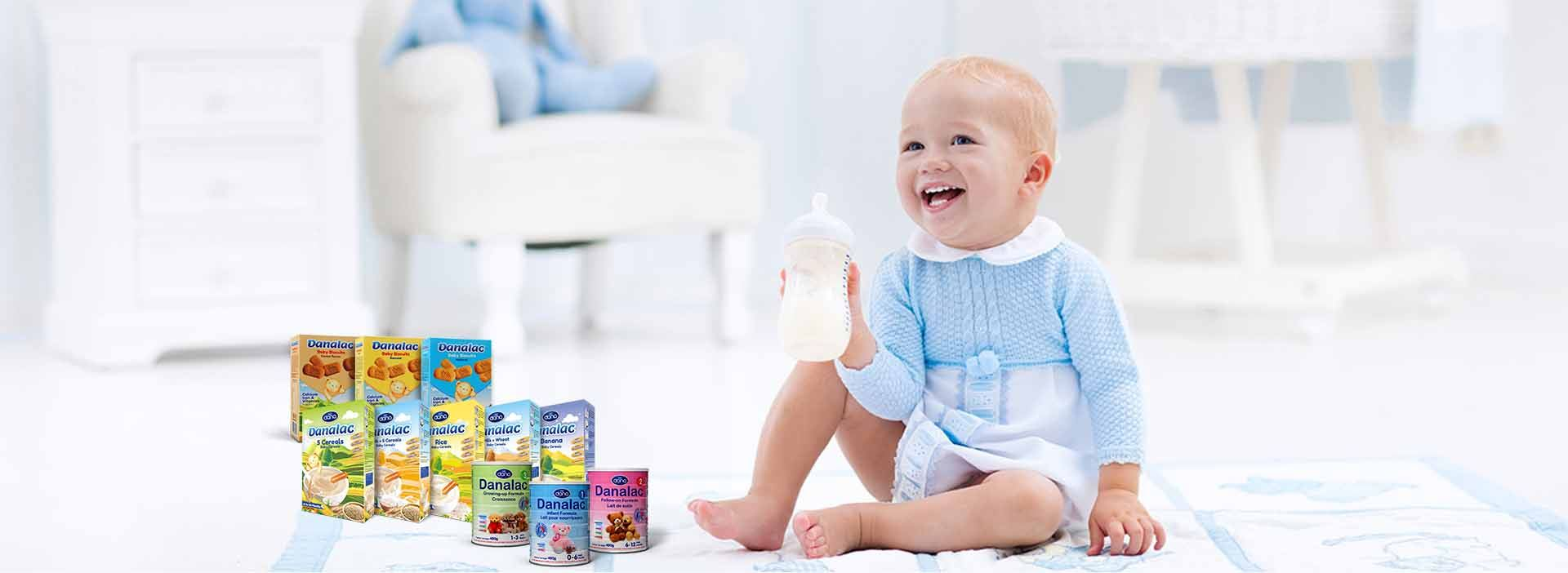 DANA Dairy is No. 1 world manufacturer and exported of top quality infant nutrition items. The product collection includes DANALAC infant formula in three stages, DANALAC baby cereals in 10 wonderful flavors, and also DANALAC baby biscuits in three awesome flavors.