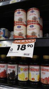 DANA sweetened condensed milk on shelf in Guatemala Torres Supermarket
