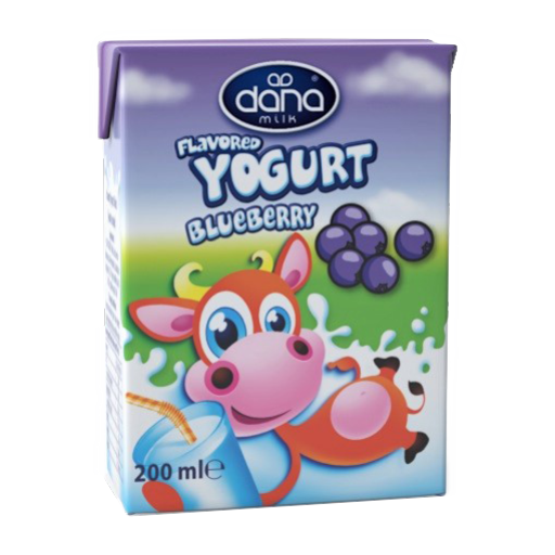DANA Blueberry Flavoured Yogurt Drink 200ml - Long Life Yogurt