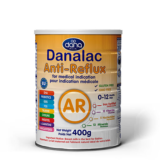 DANALAC Anti-Reflux AR Formula GOS FOS for medical indication Infant Formula Manufacturer Dana Dairy