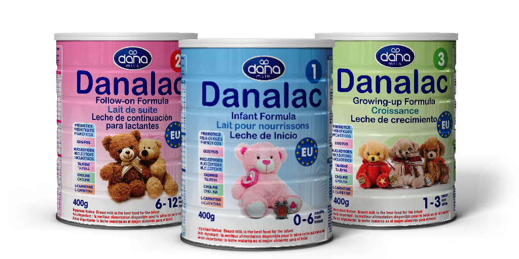 DANALAC Standard Infant Infant Formula With Cow Milk inTins - All Three Stages