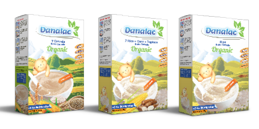 DANALAC Organic Baby Cereals for Infant Six Month Old Plus