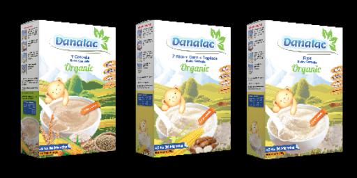 Cereales Orgánicos para bebé DANALAC para niños a partir de 6 meses
