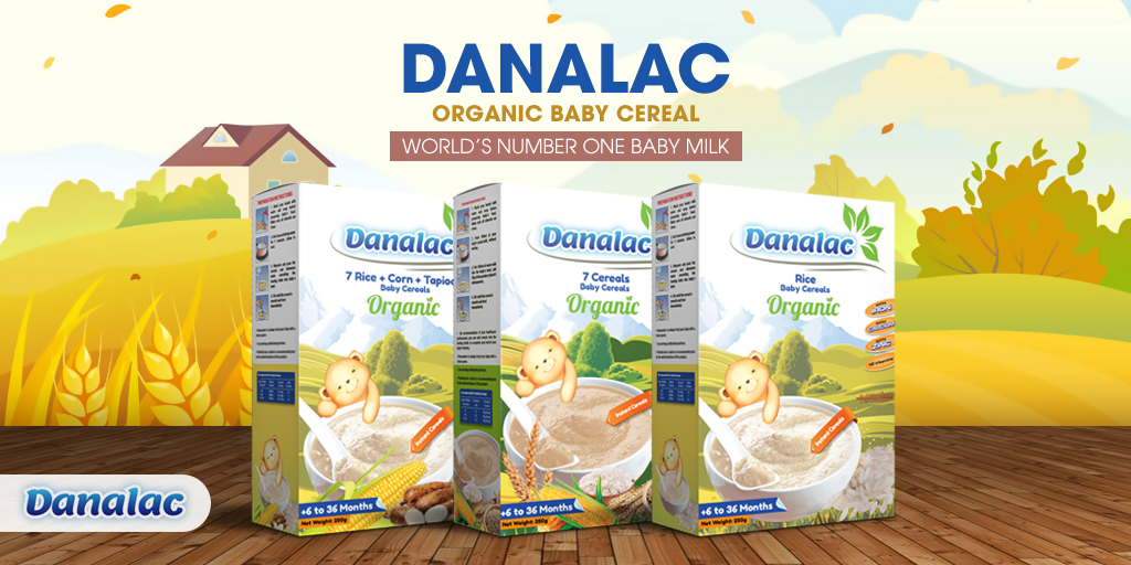 DANALAC ORGANIC Baby Cereals & Infant Milk – Come see us SialParis2018 Stand 7 A 114 httpwww.danadairy.com SIALParis Sial2018