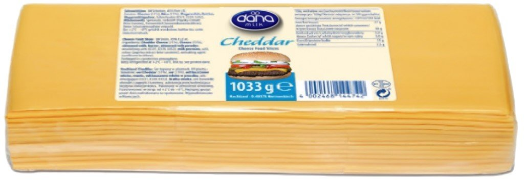 Slice-On-Slice Cheddar Cheese 48 pack HoReCa Burger