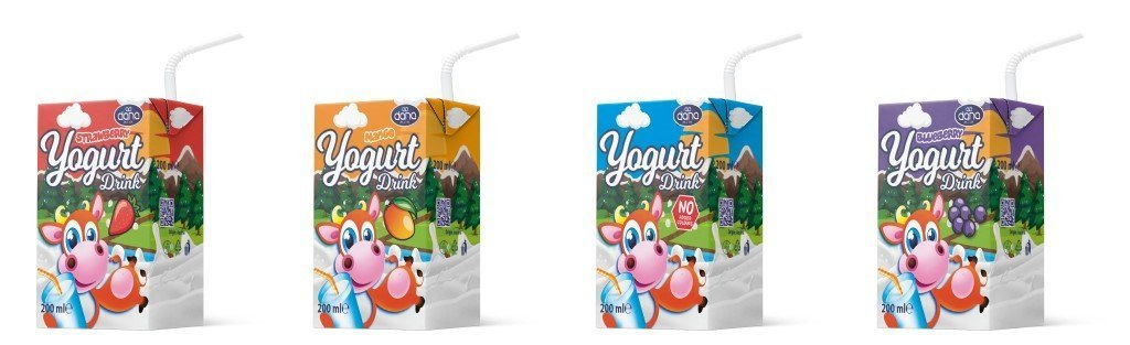 DANA Yogurt Drink 4-Packs Ambient long-life