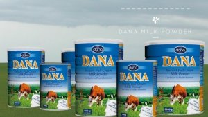 DANA Instant Full Cream Milk Powder In Tins is in just the right size for the whole family