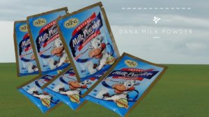 DANA Personal-Size Milk Powder in Sachets 15 gram and 20 gram sizes. This is a great size for a one glass milk preparation. Just add water and mix.