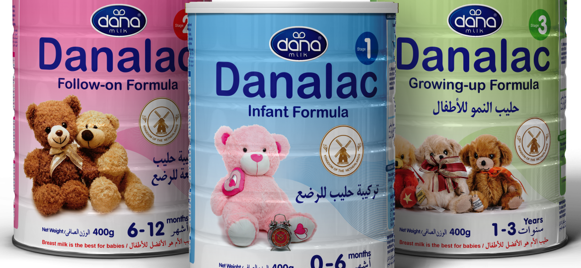 The three stages of Danalac Baby Formula