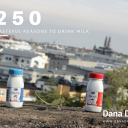 Dana Dairy's 250 ml UHT milk in plastic bottles great personal sizes and wonderfull to drink milk