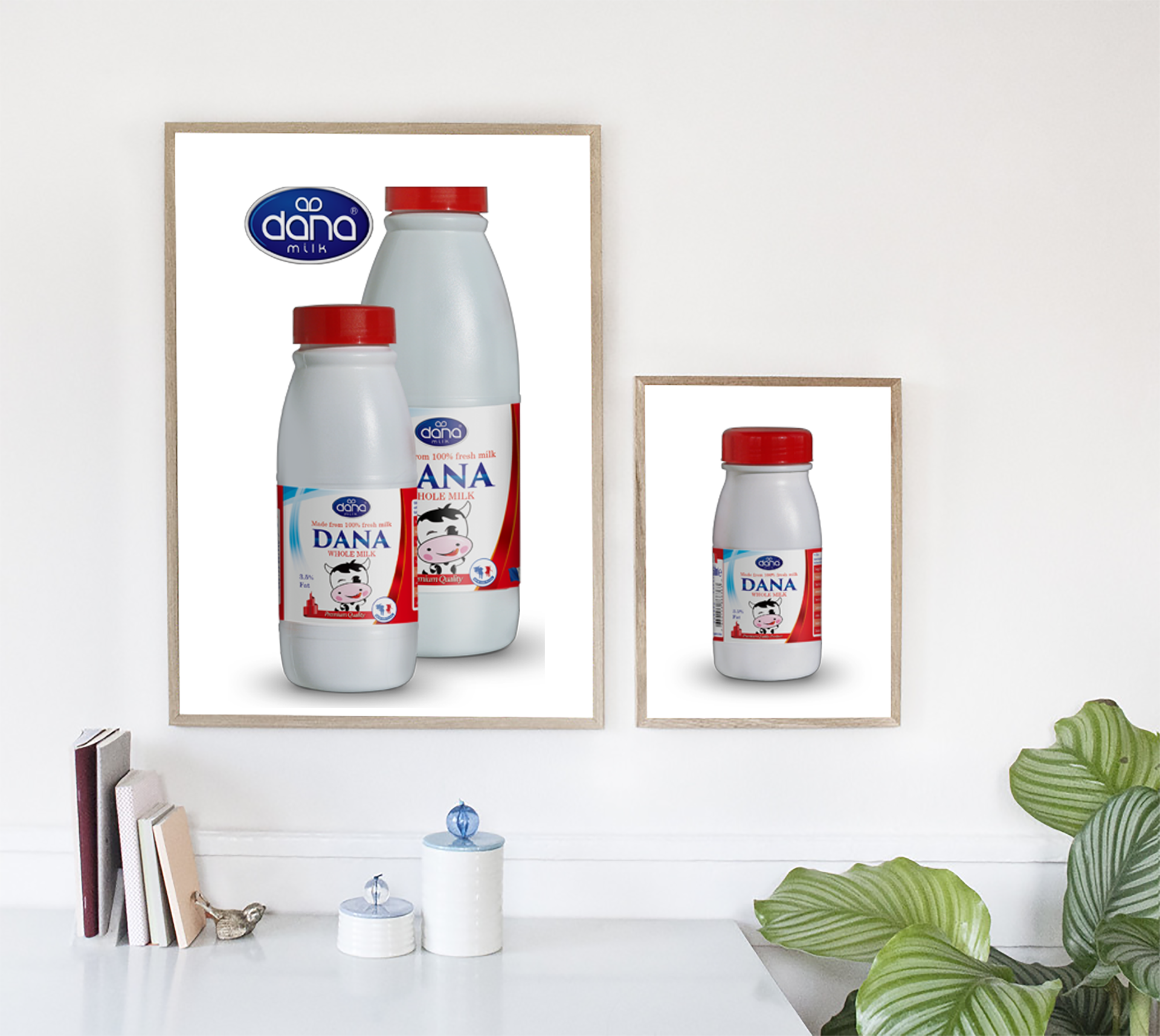 Full Cream Whole Milk Plastic Bottle UHT Milk Family Poster