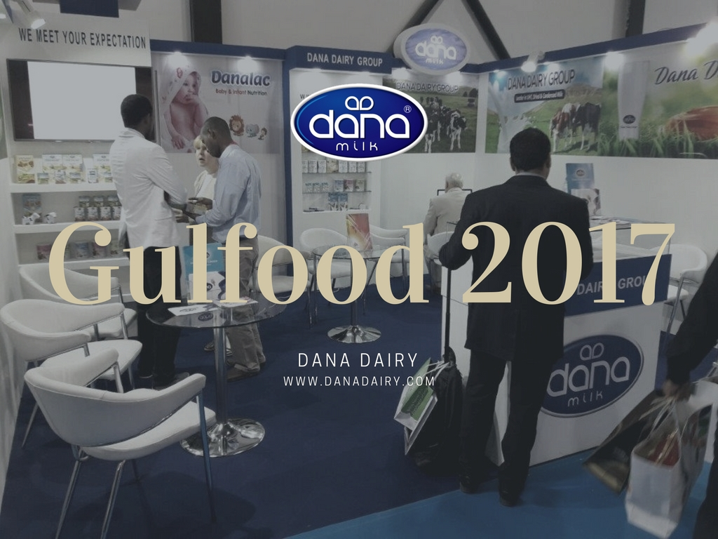 Dana Dairy participated in Gulfood 2017 in Dubai, UAE. At our boot we presented our DANA brand products such as DANA Milk. Also we presented our flagship product brand DANALAC infant formula and baby food product line.