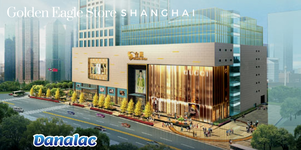 Image show Golden Eagle department store in Shanghai China - The department store now offers DANALAC products as a fine baby food item imported from Europe