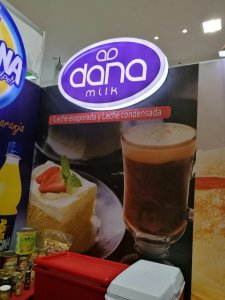 DANA Dairy logo displayed at the representing boot at the show this year