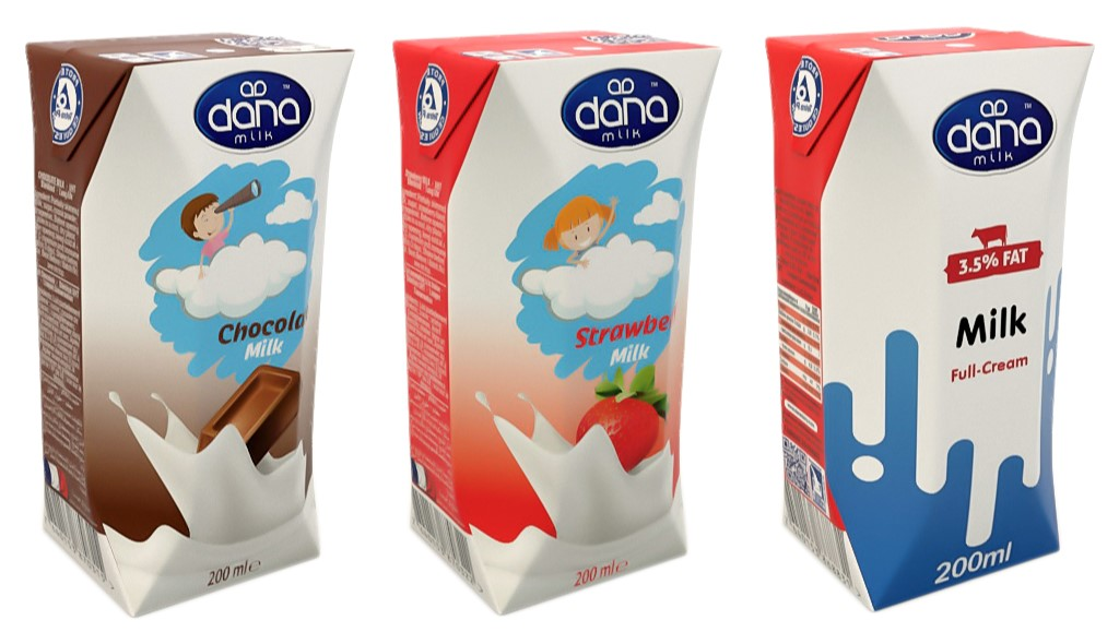 DANA flavoured milk is a long life milk in 200ml sizes and a tasteful refreshing and healthy drink