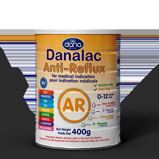 DANALAC Anti-Reflux AR Formula GOS FOS for medical indication Infant Formula Manufacturer Dana Dairy