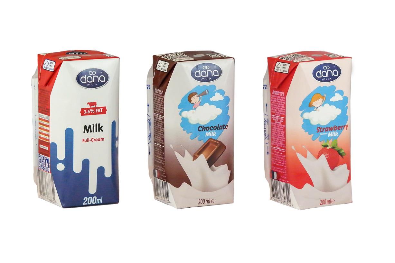 Flavored Milk, Long life UHT, Dana Milk, chocolate milk, strawberry milk
