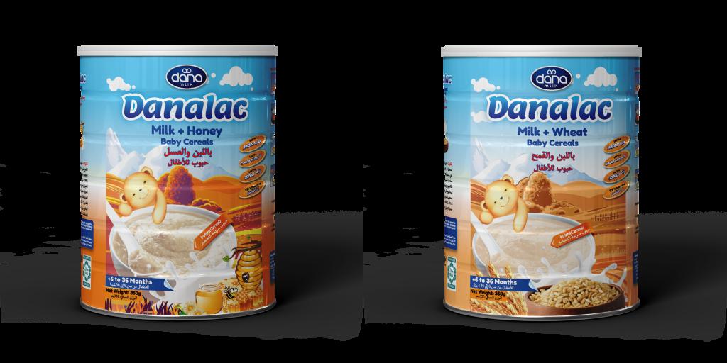Cereales para bebé DANALAC en botes- Leche y Trigo o Leche y Miel