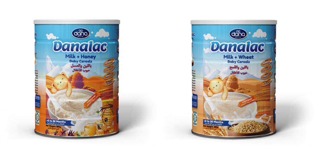 DANALAC Baby Cereals in Tins - Milk and Wheat or Milk and Honey
