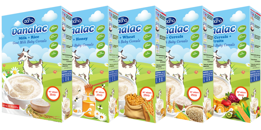 DANALAC Goat Milk Baby Cereals in 5 Variations